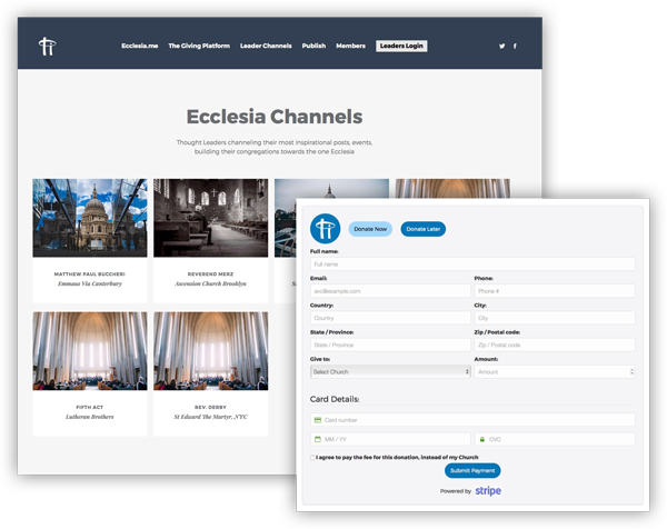 EcclesiaOS.com - Church Communications Platform, Website Builder and Messaging.